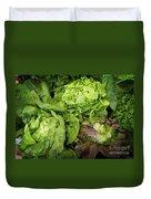 Lettuce Go Forward Duvet Cover