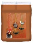 Levitating Chickens Duvet Cover