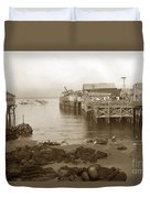 Lewis Fish Market Selected Fresh Fish And Swains Fish Market Monterey 1929 Duvet Cover