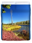 Lewis River Fall Duvet Cover