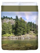 Lewis River Landscape Duvet Cover