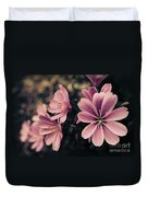 Lewisia Flowers - 7 Duvet Cover