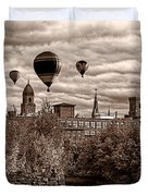 Lewiston Maine Hot Air Balloons Duvet Cover