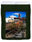 Lewiston Maine In Fall Duvet Cover