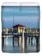 Lexington Harbor With No Boats Duvet Cover
