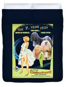Lhasa Apso Art - The Seven Year Itch Movie Poster Duvet Cover