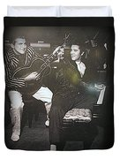 Liberace And Elvis Duvet Cover