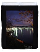 Liberty Bay At Night Duvet Cover