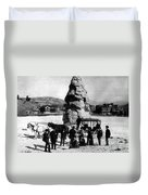 Liberty Cap Yellowstone National Park Duvet Cover
