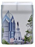 Liberty Place And City Hall Duvet Cover