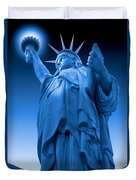 Liberty Shines On In Blue Duvet Cover