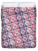 Liberty Stamps Collage Duvet Cover