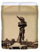Liberty Torch At Philadelphia For Us Centennial 1876 Duvet Cover