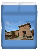 Library In Clare Michigan Duvet Cover