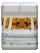 Library Of Congress Duvet Cover