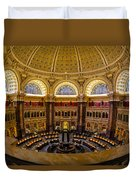 Library Of Congress Main Reading Room Duvet Cover