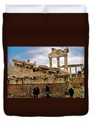 Library On The Pergamum Acropolis-turkey Duvet Cover