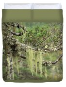 Lichens On Tree Branches In The Scottish Highlands Duvet Cover