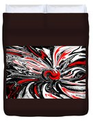 Licorice With Red Cherry Duvet Cover
