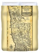 Liebauxs Map Of The Holy Land 1720 Duvet Cover