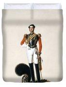 Lieutenant Thomas Myddleton Biddulph Duvet Cover by Alexandre-Jean Dubois Drahonet