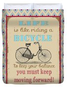 Life-bicycle Duvet Cover