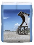 Life Guard Station Duvet Cover