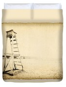 Life Guard Tower Duvet Cover