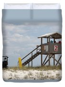 Life Guards On Duty Duvet Cover