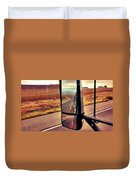 Life In My Rearview Mirror Duvet Cover