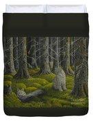 Life In The Woodland Duvet Cover by Veikko Suikkanen