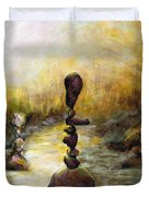 Life Is A Balancing Act Duvet Cover