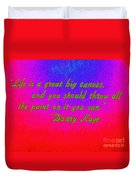 Life Is A Great Big Canvas Duvet Cover