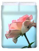 Life Is All Roses And Blue Sky Duvet Cover