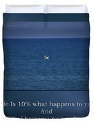 Life Is Soaring Solo Sometimes Duvet Cover
