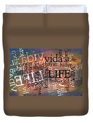 Life Letters Two Duvet Cover