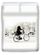 Life On Bike. Trash Sketches From The Amsterdam Streets Duvet Cover