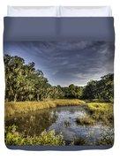 Life On The Marsh Duvet Cover
