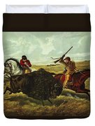Life On The Prairie Duvet Cover by Currier and Ives