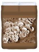 Life On The Rocks In Sepia Duvet Cover