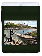 Life On The Seine Duvet Cover