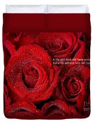 Life Without Love Will Have No Roses Duvet Cover