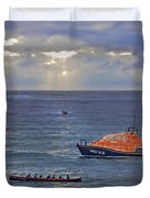 Lifeboats And A Gig Duvet Cover