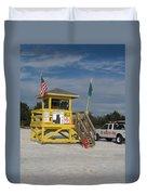 Lifeguard And Beachpatrol Duvet Cover