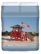 Lifeguard Siesta Beach Duvet Cover