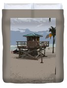 Lifeguard Station IIi Abstract Duvet Cover