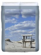 Lifeguard Station Island Beach State Park Nj Duvet Cover