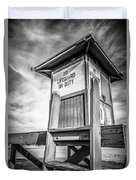 Lifeguard Tower 10 Newport Beach Hdr Picture Duvet Cover