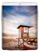 Lifeguard Tower 20 Newport Beach Ca Picture Duvet Cover