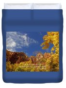 Lift Up Your Eyes Duvet Cover